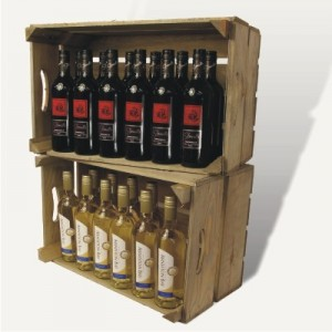 Recycled Rustic Wine Display Boxes