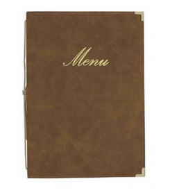 Classic Brown Menu Cover