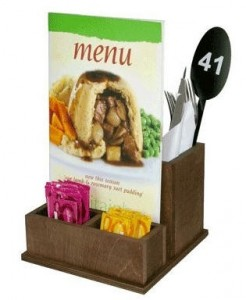 Condiment, Cutlery and Menu Holder