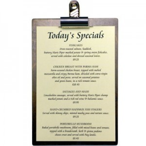 Specials Menu Clipboard
