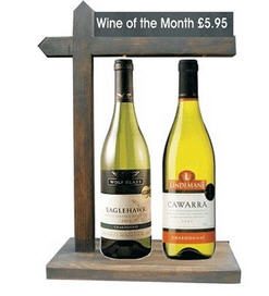 Wine Of The Month Merchandising Display