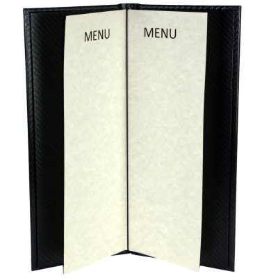 elasticated tag menu cover folder