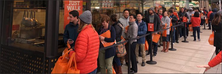 Amazon go queue