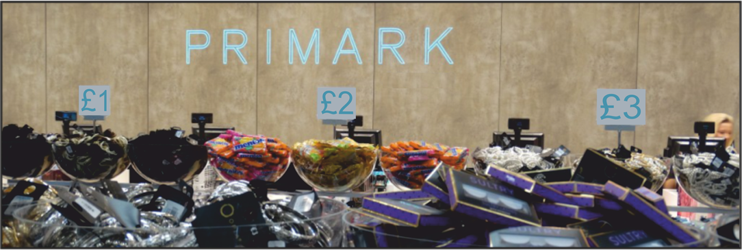 Primark impulse sales display